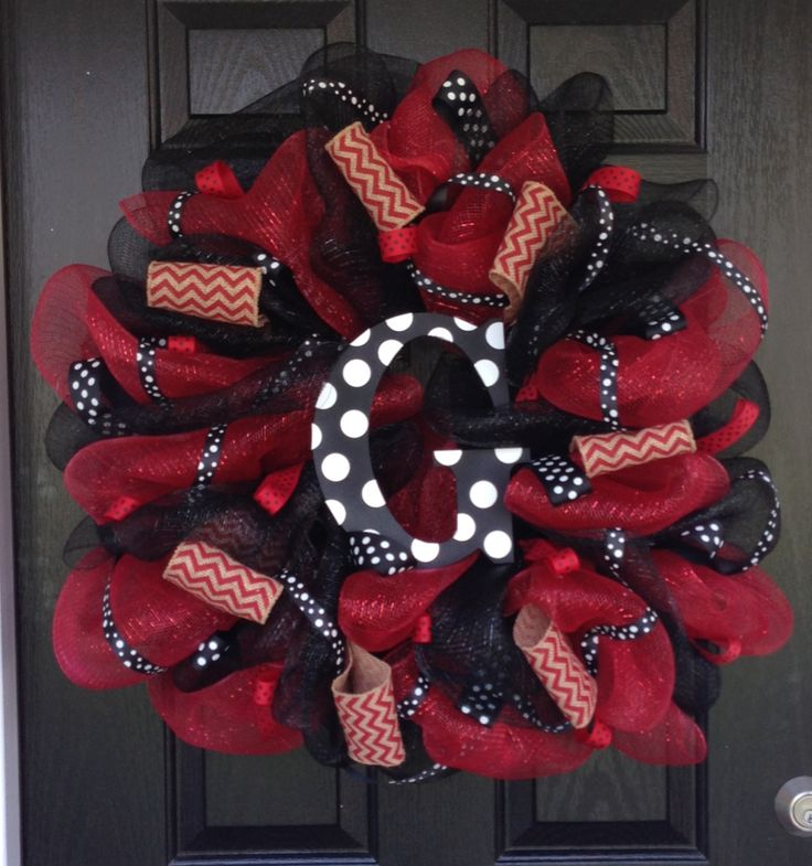 Georgia Bulldog Wreath
