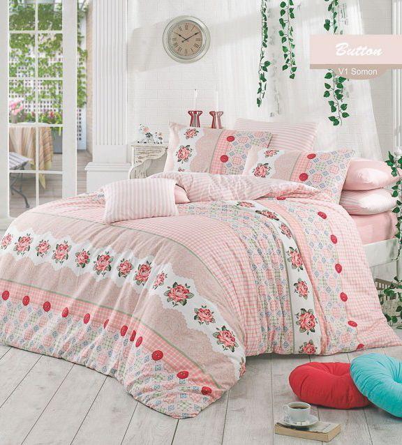 Розовое постельное белье для спальни в стиле прованс или для спальни девочки