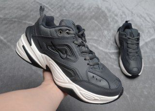 168fd95cb330 Mens Nike Air Monarch 4 M2K Tekno Wolf Grey Black White AO3108 012 Running  Shoes