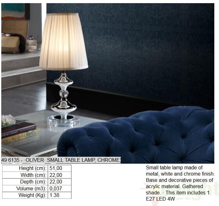 Veioza, lampa de masa decorativa, H-60cm, LED OLIVER 496248 - Corpuri de iluminat, lustre, aplice