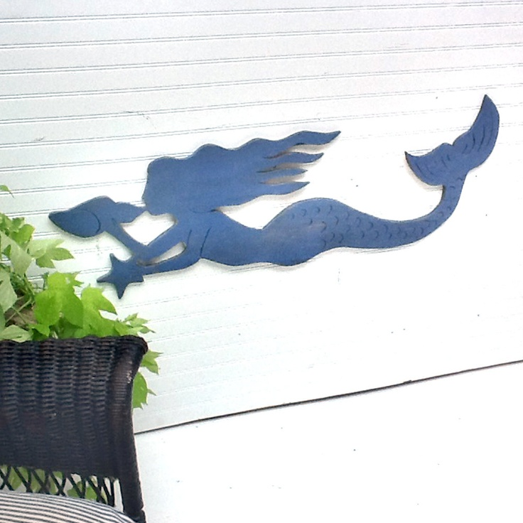 Mermaid Swimming Sign Ready to Ship Indoor Outdoor Wooden. $89.00, via Etsy.