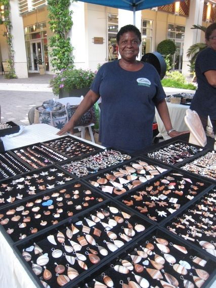 Miss Launa and her wonderful Caymanite jewelry. She's a true example of Caymankindness.