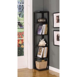 Shop for Espresso Finish Five-tiered Corner Book Case. Get free delivery at Overstock.com - Your Online Furniture Outlet Store! Get 5% in rewards with Club O!