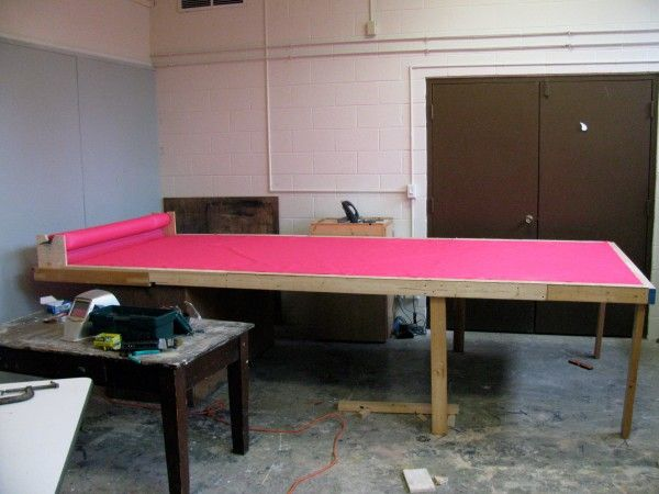 Fabric Cutting Table  - like the thing that holds the bolt!