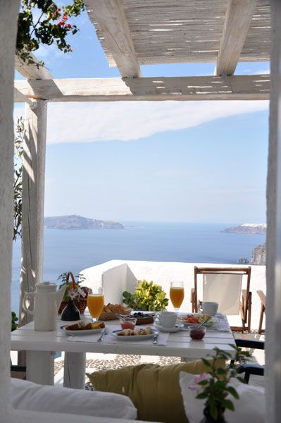 Breakfast in the sun , Greece