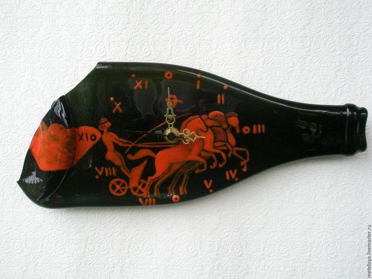 Купить Часы настенные Вот четверка коней... - часы ручной работы, квадрига, четверка коней
