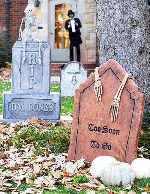 Halloween tombstone tutorial from Better Homes & Gardens