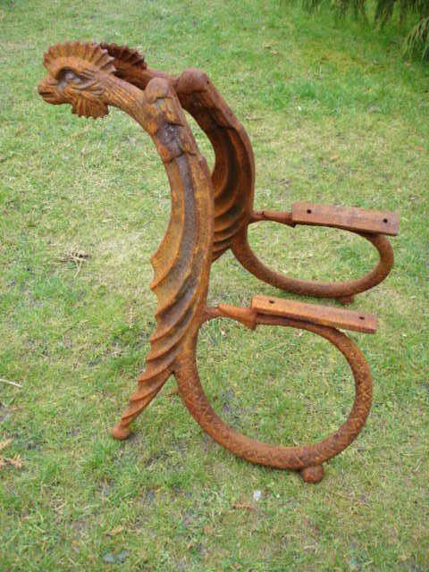 Pieds De Banc En Fonte Modèle Dragon Lourd Banc De Jardin En