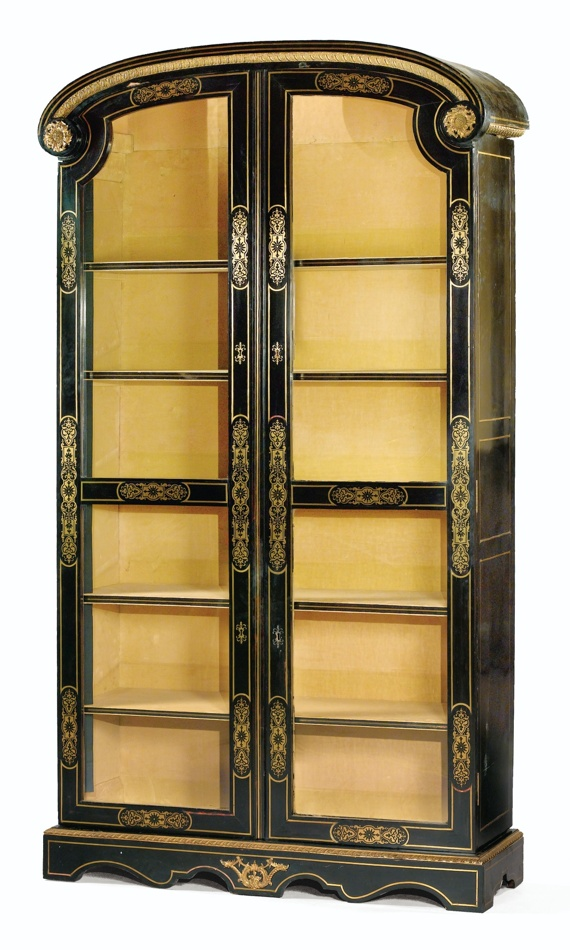 C, Louis XlV Era Ebony Bookcase;