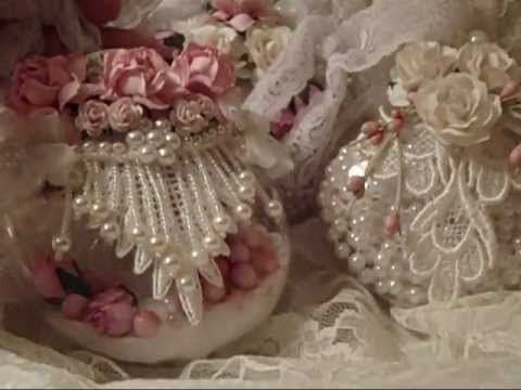 ▶ Inspired Shabby Chic Michael's Globe Ornaments - YouTube