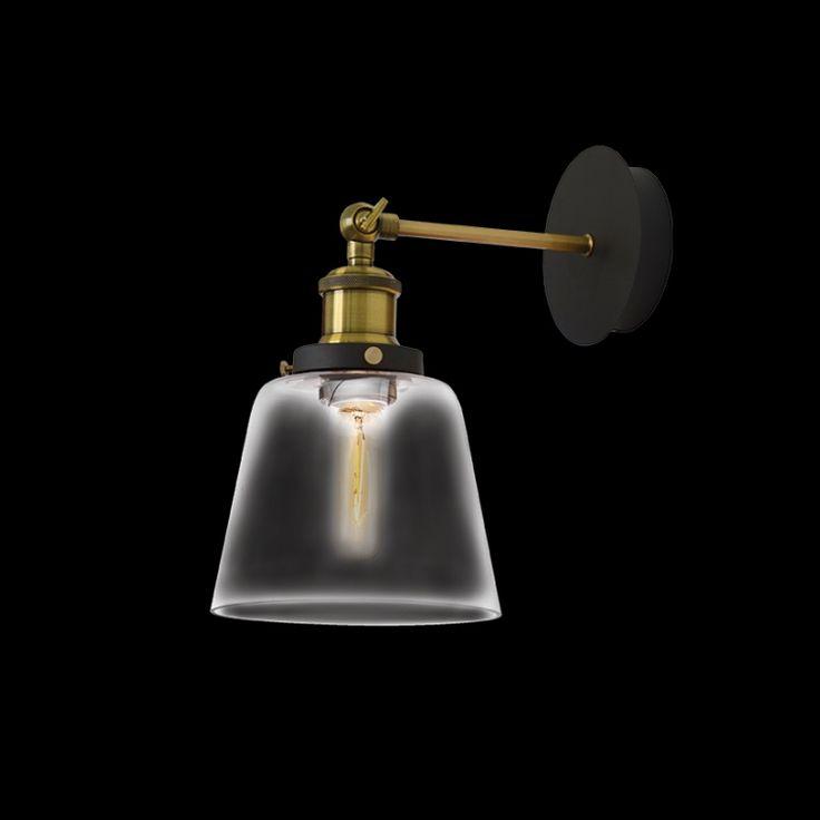 Antique Brass & Glass Wall Light