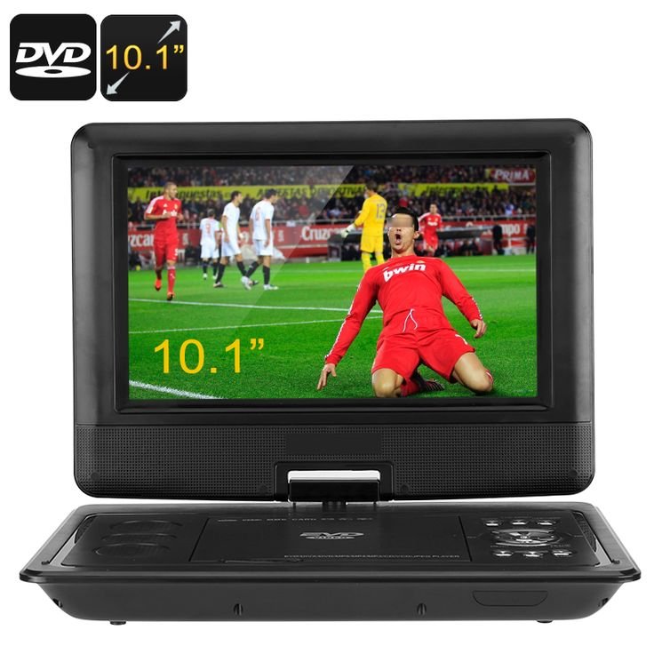 Image of 10.1 Inch Portable DVD Player - 270 Degree Swivel Screen, 1280x800, Region Free, Hitatchi Lens, Anti Shock, Game Emulation