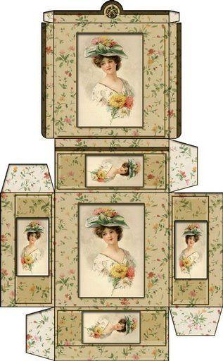 Printable Miniature Hat Boxes   Dollhouse Printable Boxes