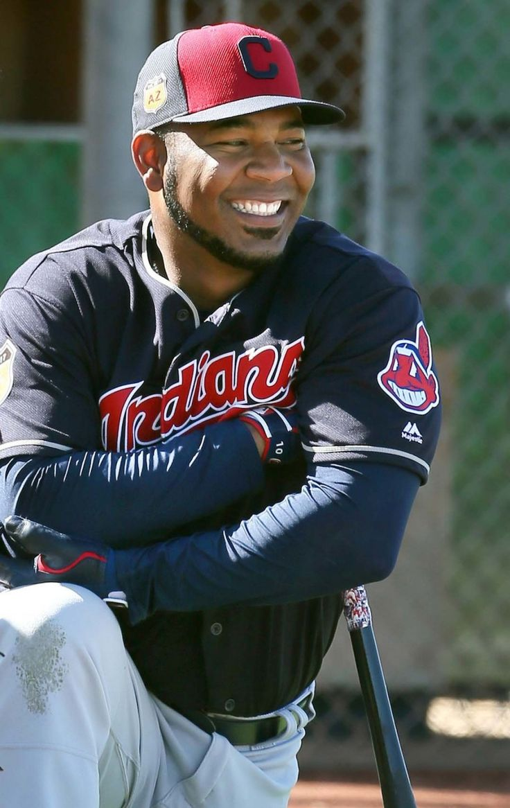Cleveland Indians Edwin Encarnacion, at spring training in Goodyear, Arizona on Feb. 23, 2017.  (Chuck Crow/The Plain Dealer)