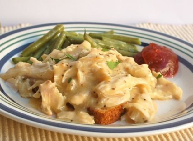 Slow Cooker Chicken and gravy! Very popular recipe! 3 steps, 3 ingredients, and just 3 Weight Watcher Smart points per serving!! You will love this one!  Meal Planning Mommies