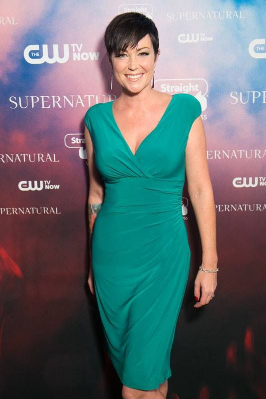Kim Rhodes #200thEpPartyLA...her tat tho!!!!!!!!!!!!!!!!!!!! ADORE HER!!!!