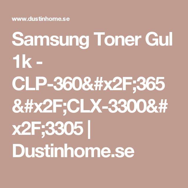 Samsung Toner Gul 1k - CLP-360/365/CLX-3300/3305 |   Dustinhome.se