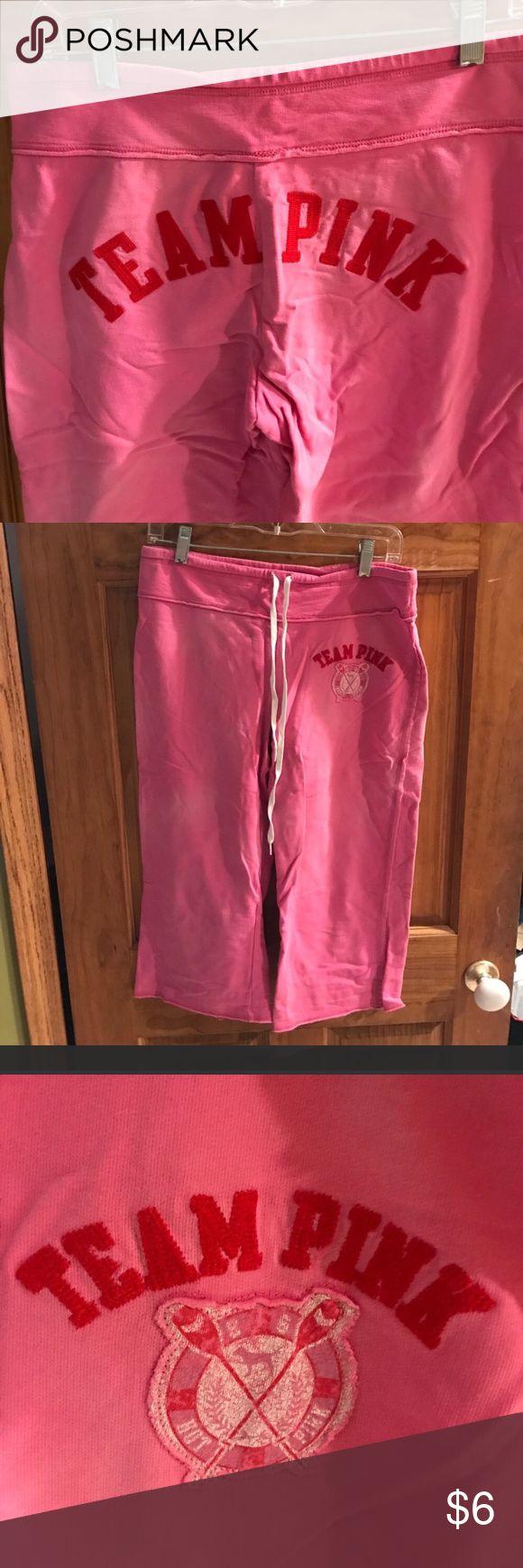 Victoria Secret Capri pants Team pink capris Victoria's Secret Pants Capris