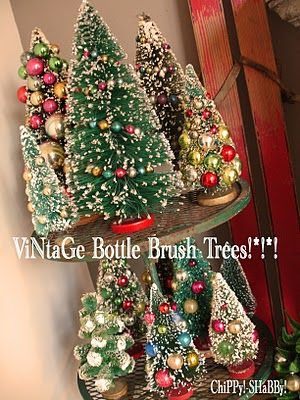 more bottle brush trees! I loved these little trees as a child.....and still do!!! Mpp