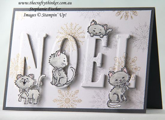 The Crafty Thinker: Stephanie Fischer - Independent Stampin' Up Demonstrator: Pretty Kitty Eclipse Christmas Card
