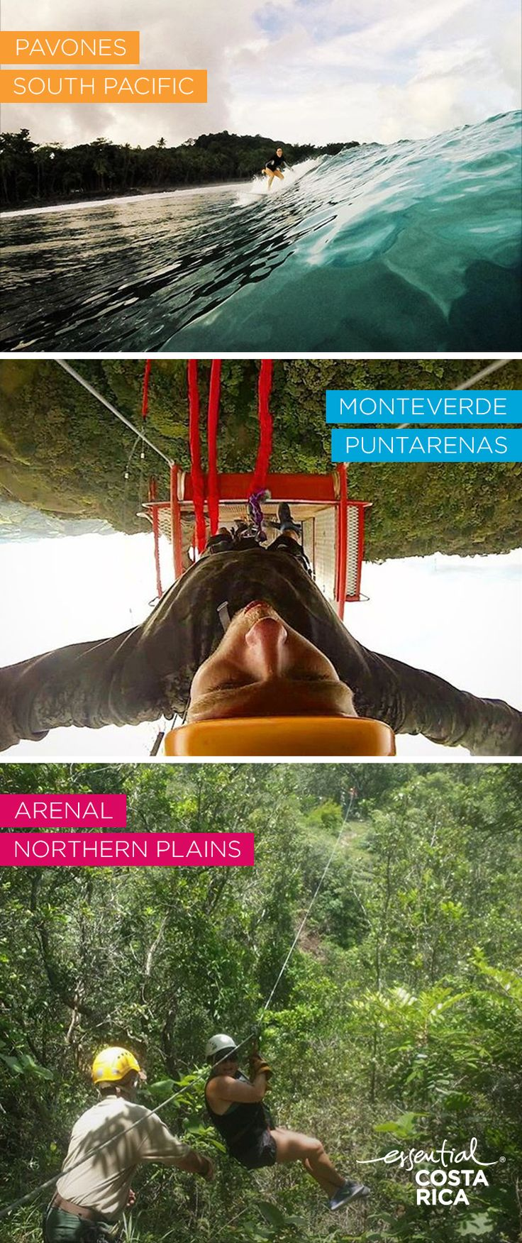 Adventure takes on a whole new meaning in Costa Rica. And thrill seekers from around the globe are planning trips packed with adrenaline spiking experiences. Zipline through the jungles of Arenal, bungee jump in Montverde and surf the perfect waves of Pavones. And remember...Y.O.L.O.