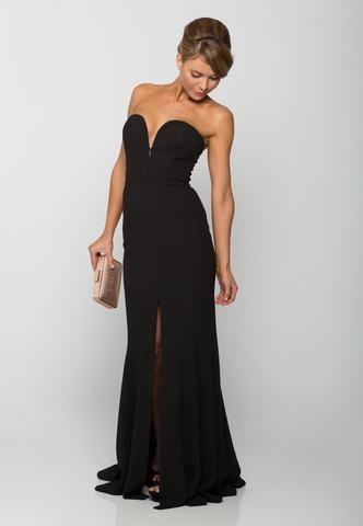 Designer Dress Hire   Aurelio Costarella Black Plunge Gown