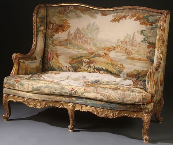 Antique Tapestry Sofa: Decorating With French Tapestry Upholstered Settees, Sofas