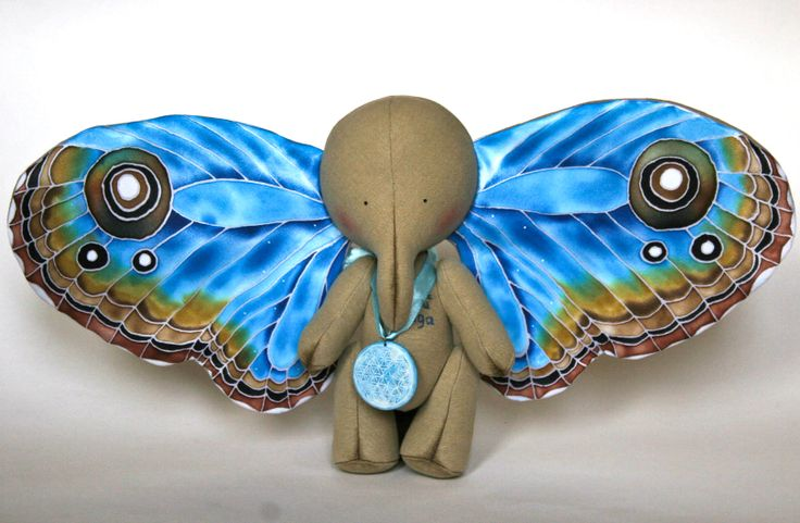 «The Magic Elephant - Collectible Art Toy - Handmade OOAK Personalized Collectible Toy»