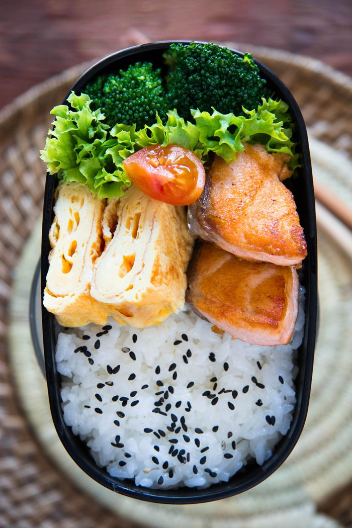 Salmon bento. But could use other fish or meat.