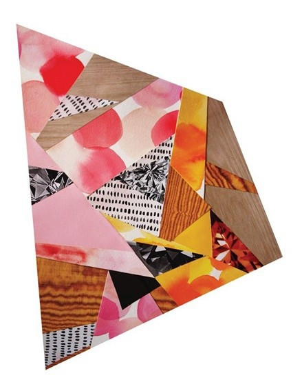 Emily Green Apricot Collage Print