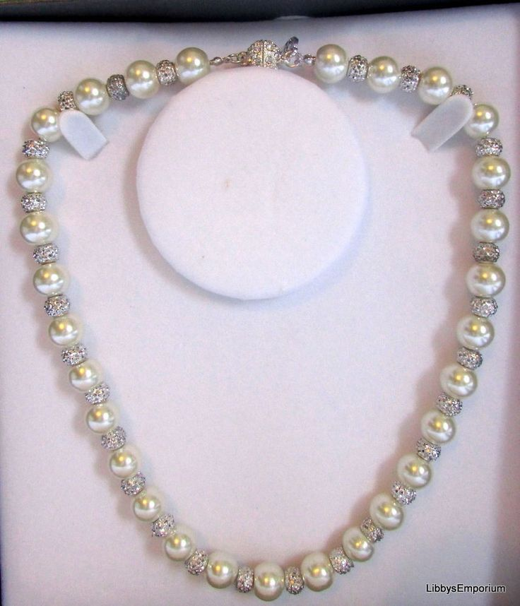Equilibrium Pearl & Crystal Shamballa Necklace