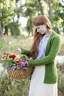 cardigan inspired by Anne of Green Gables - book with pattern comes