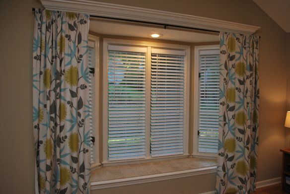 Osborne Dining-way to hang curtains in Bay window