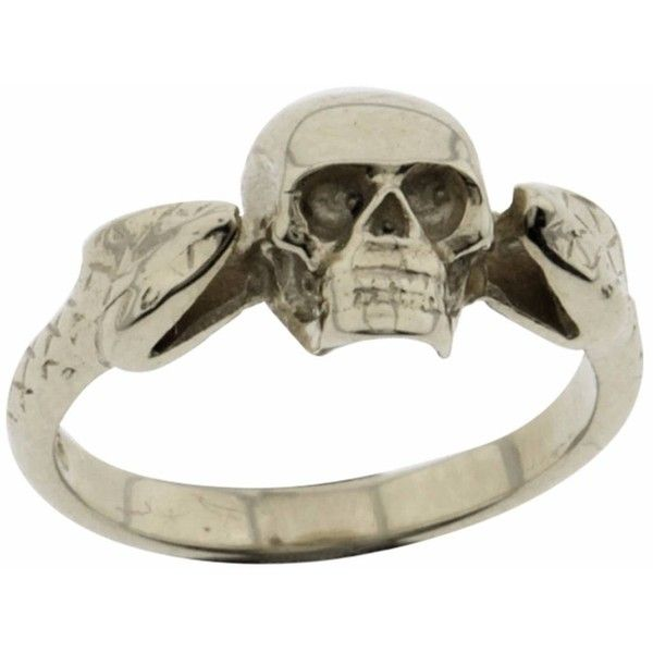 Metal Couture - Viper & Skull Ring ($115) ❤ liked on Polyvore featuring jewelry, rings, skull head ring, metal clasp rings, polish jewelry, snake jewelry and snake ring