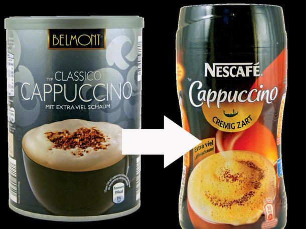 Der Cappuccino von Belmont ist eigentlich der Nescafé Cappuccino