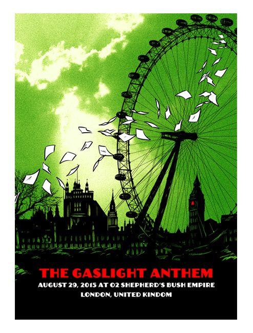 Hellgate Industries Gaslight Anthem European Tour Posters Bundle