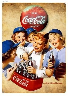 Placa Vintage Retrô - Coca-cola - Happy Boys - Mdf - Es9058 - R$ 26,00 no MercadoLivre