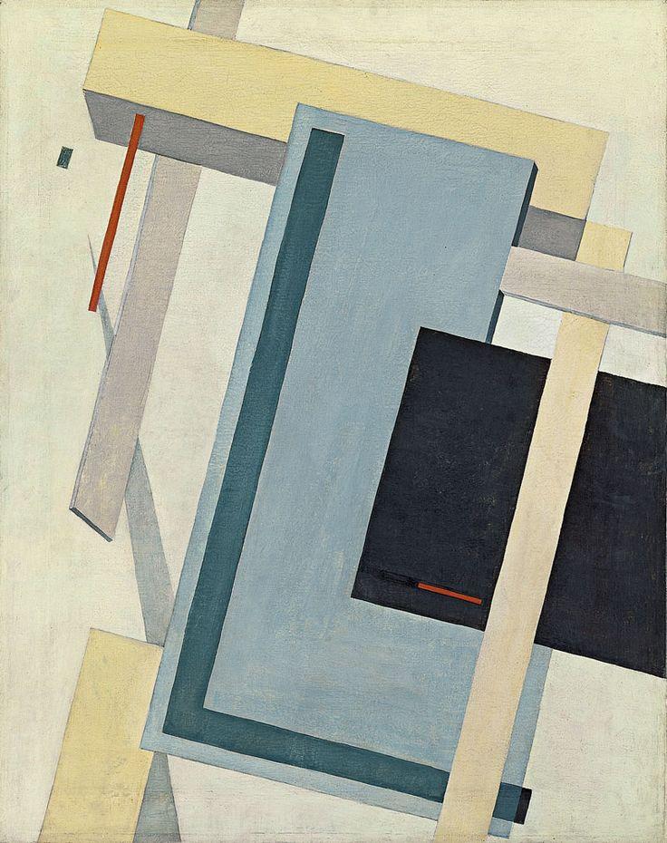 El Lissitzky - Proun 4 B, 1919-20, oil on canvas, 70 x 55.5 cm