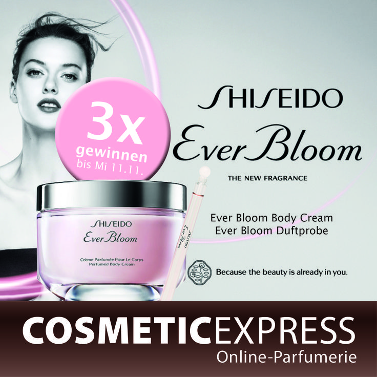 #shiseido #everbloom #bodycream #gewinnspiel #cosmeticexpress Mach mit bei unserem Shiseido Gewinnspiel: https://www.facebook.com/CosmeticExpressCom/