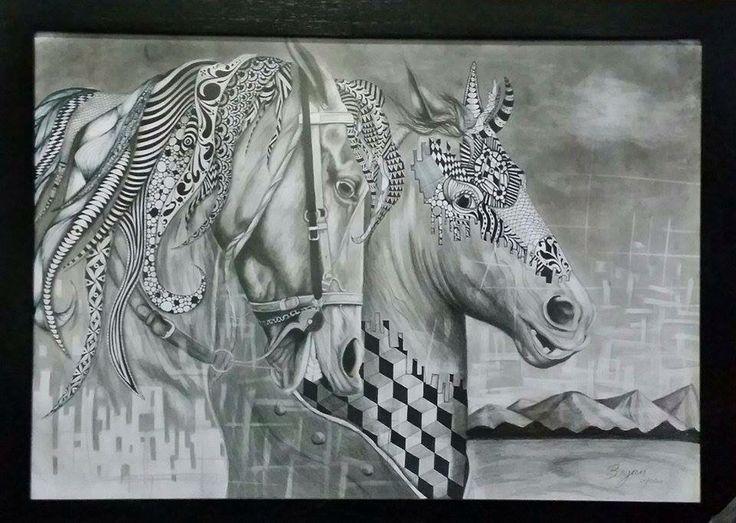 Surrealismo caballos  horse surrealism mándala