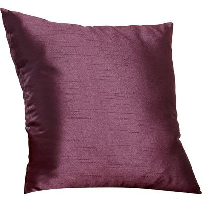 """Astoria Grand Appley Solid Luxe Synthetic Throw Pillow Size: 18"""" H x 18"""" W, Color: Plum, Filler: Down"""