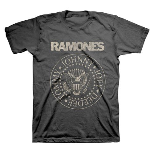 Vintage Band Tees - Ramones T-shirt Classic Punk Seal Logo - http://www.band-tees.com/store/R_00700_146%21BRVDO/Ramones+Distress+Crest+T-shirt