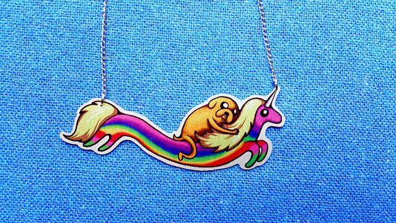 Abenteuer Zeit Prinzessin Flammenprinzessin Jake Hund Liebe Geek Halskette