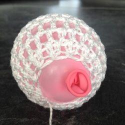 gehaakte (kerst) lampionnetjes - jellina-creations, #haken, gratis patroon, stijven met suiker, #crochet, free pattern (Dutch)