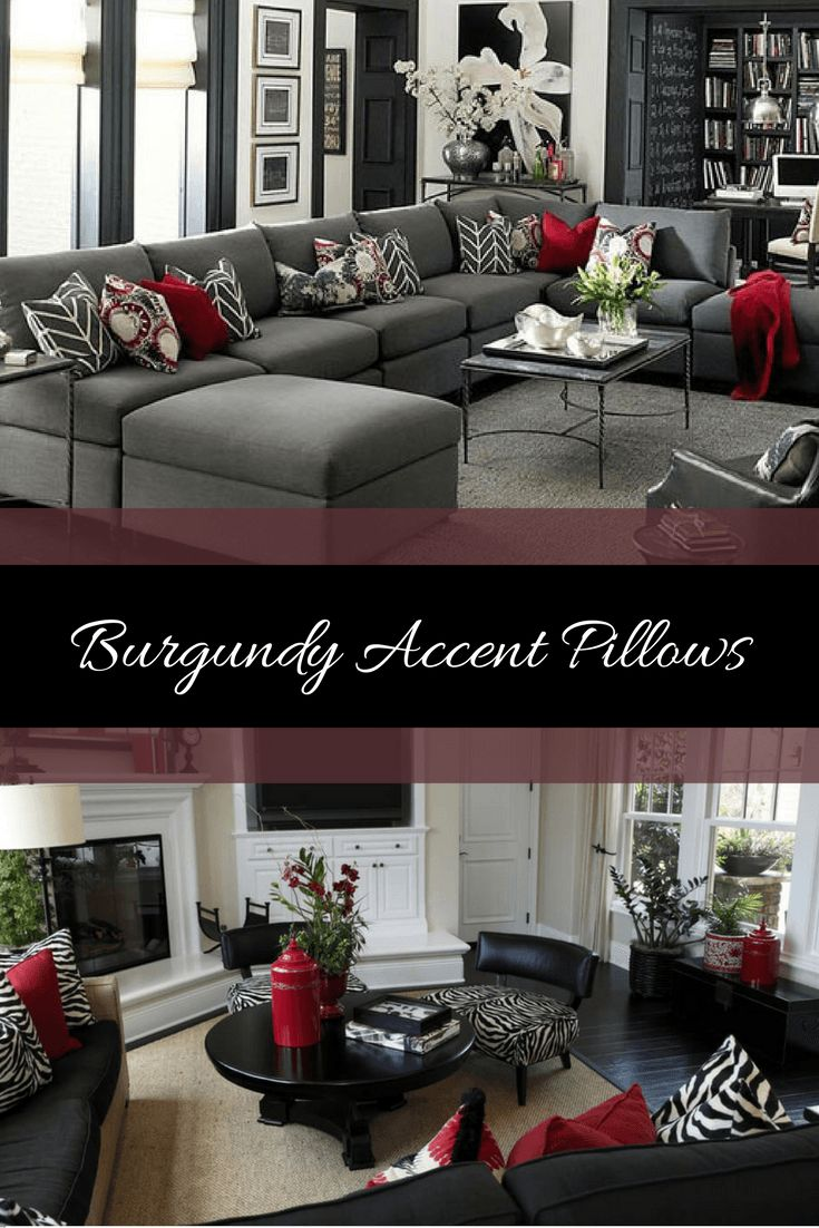 26 beautiful burgundy accents for fall home d 233 cor digsdigs - Burgundy Accent Pillowsif You Like A Bold And Confident Looking Space Then Consider A Burgundy Home