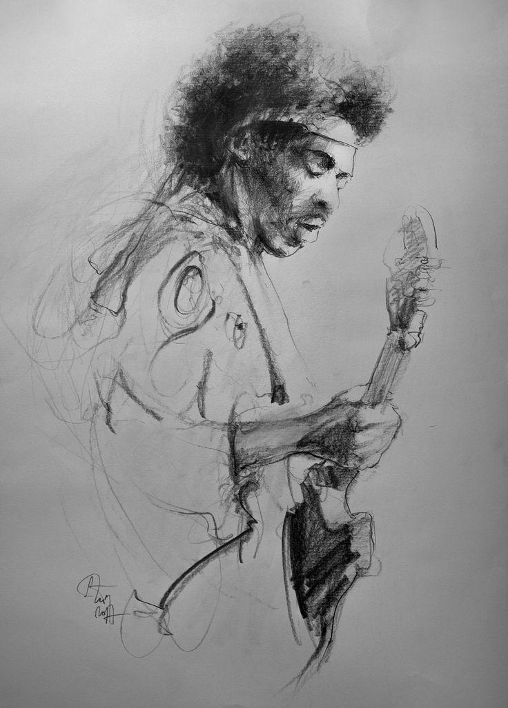 Jimi Hendrix, pencil