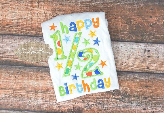 Medio Cumpleaños - cumpleaños de 6 meses - ducha regalo - niño de cumpleaños medio - bebé -1/2 camisa de cumpleaños - por 5littleblessings