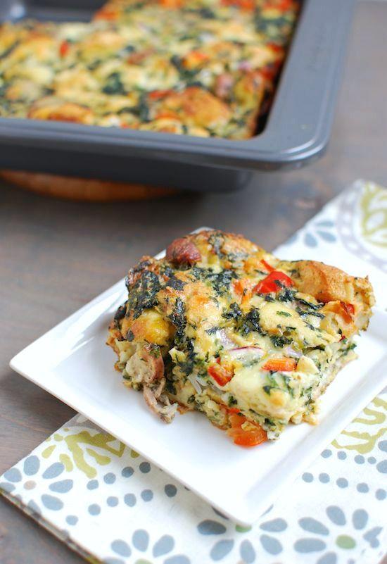 Sausage and Vegetable Egg Bake