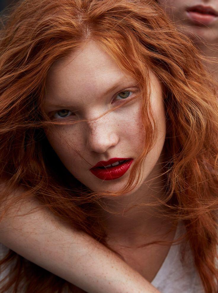 Hairy ivanova russian redhead model
