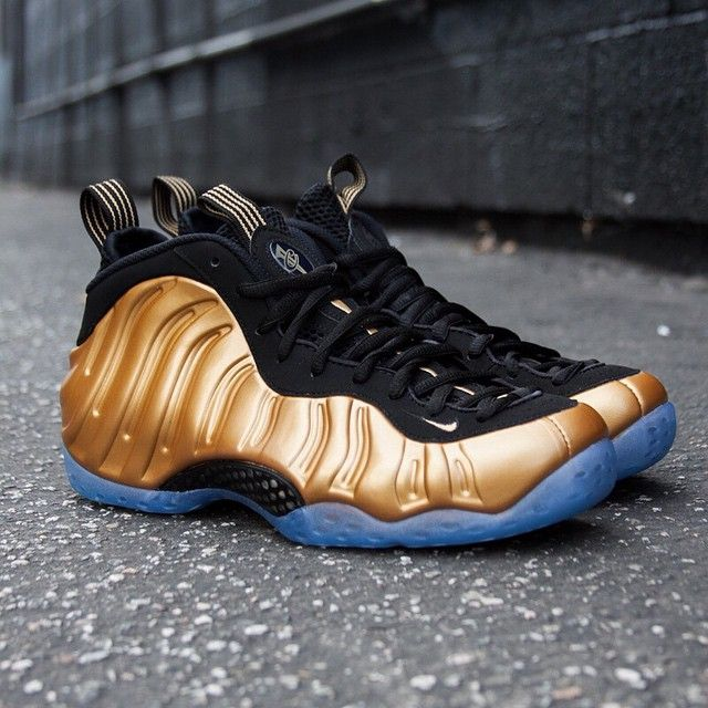 The Cheapest Nike Air Foamposite One Olympic Gold Custom